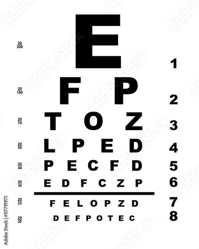Eye Test Chart Buy Photos Ap Images Detailview