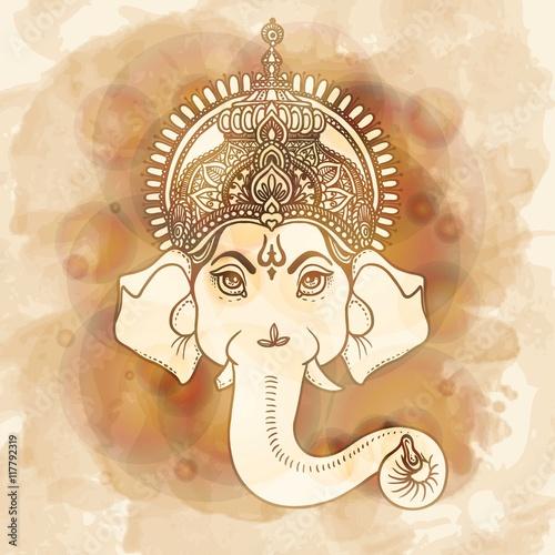 Plakát Hand painted Ganesha