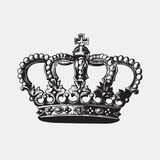Hand drawn antique crown
