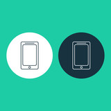 Vector illustration of cell phone icon