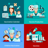 Vaccination Flat 2x2 Design Concept