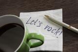 Message written on napkin