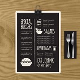 Special menu template in blackboard - 117821705
