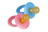 Pair of Baby Pacifiers in Blue and Pink