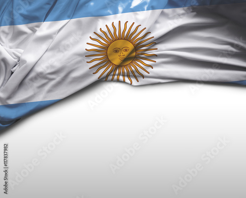 Fotobehang Buenos Aires Argentina flag