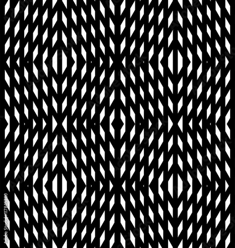 Abstract geometric background. Optical illusions, white diamonds - 117845780