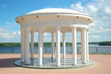 The Gazebo-rotunda at the new Volga embankment. Myshkin, Russia