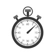 Постер, плакат: chronometer time instrument seconds icon Isolated and flat illustration Vector graphic