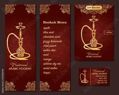 Vector illustration of a menu for a restaurant or cafe arabian vector illustration of a menu for a restaurant or cafe arabian oriental cuisine with hookah reheart Choice Image