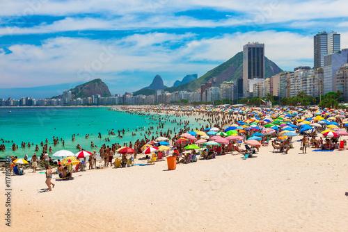 Copacabana beach in Rio de Janeiro, Brazil Canvas Print