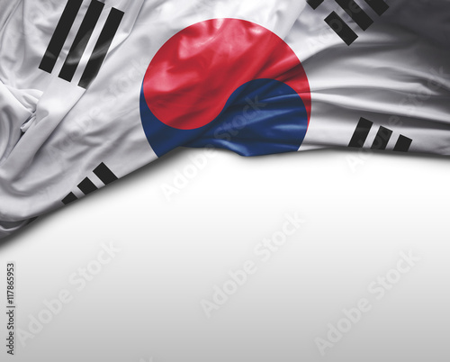 Fotobehang Seoel South Korea flag