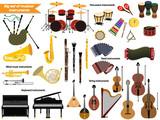 Big set of musical i...