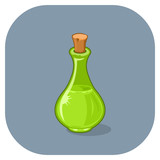 Vector Magical Spell Bottle.