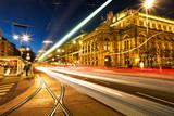 Illuminated Opera house in Vienna, Austria