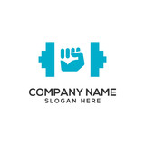 Fototapety Fitness and Gym Logo Vector