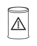 flat design toxic waste barrel icon vector illustration
