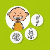 boy school creative vector illustration graphic eps 10
