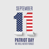 Fototapety Abstract Patriot Day background template.