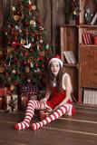 Portrait of young beautiful elf girl