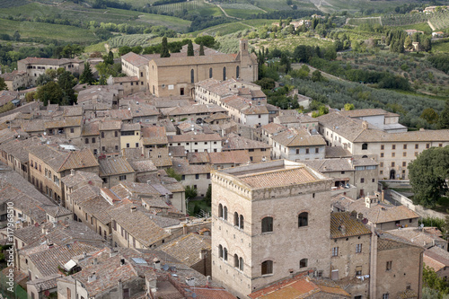 Fototapeta San Gimignano Village, Tuscany