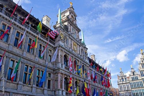 Fotobehang Antwerpen Rathaus von Antwerpen