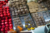 Assortment of chocolates with ganache and pralines fillings