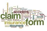 Claim form word cloud