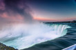 Niagara Waterfalls Canada North America during sunrise