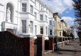 Row of typical English buildings, Eastbourne, United Kingdom