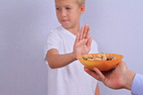 Peanut allergy concept