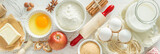 Baking ingredients background - 118065557