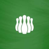 Ninepins flat icon