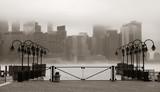 Fototapety New York City downtown fog
