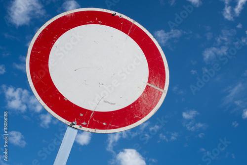 Poster Deutsches Verkehrszeichen: Verbot für Fahrzeuge aller Art