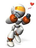 喜びに興奮するキュートなロボット