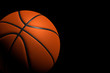 Basketball Ball on Black Background, 3D Rendering