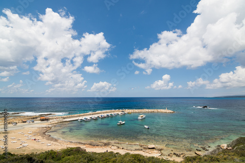 View over bay in Paphos region, Cyprus