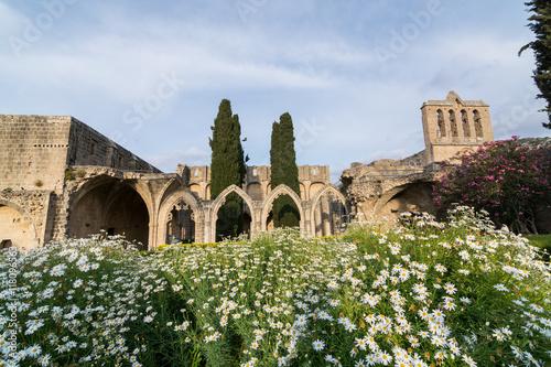 Fotobehang Cyprus Ruins of Bellapais monastery in Kyrenia, Northern Cyprus