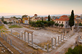 Remains of the Roman Agora in Athens, Greece. - 118109987