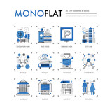 City Elements Monoflat Icons