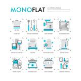 Kitchen Utensils Monoflat Icons