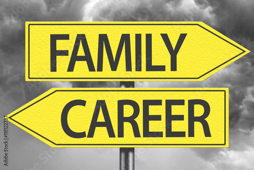 Poster Family x Career yellow sign