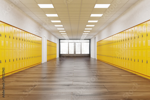 Corridor in school Poster