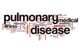 Pulmonary disease word cloud