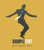 Elegant man dancing jazz