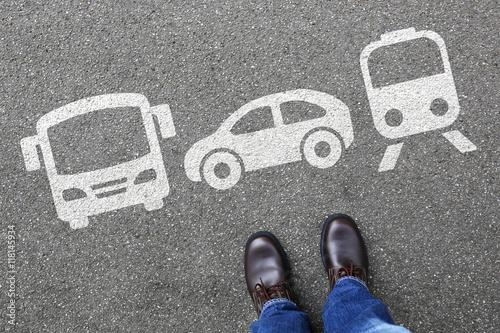 Papiers peints Voies ferrées Bahn Zug Auto Bus Mann Mensch Wahl Auswahl Mobilität Reise reis