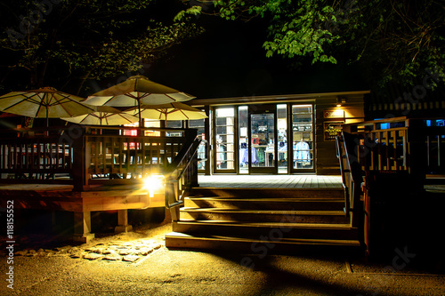 Shop in the Night at Yosemite Valley