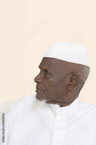 Poster Portrait of an Eighty-year-old African man