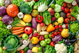 Fototapety Fresh fruits and vegetables