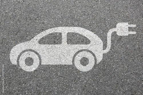 Elektro Auto Elektroauto Fahrzeug Straße Verkehr Mobilität Umw Poster